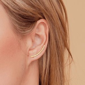 18k Gold Plated: Morocco Ear Climbers
